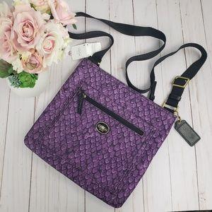 Coach Purple Mermaid Scales Crossbody Bag